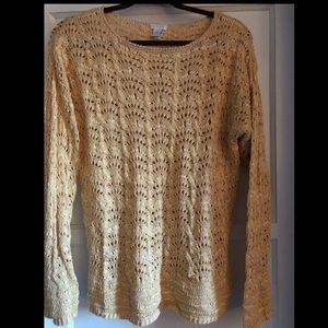 Mustard Yellow Chico's Knit Sweater